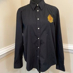 EUC Lauren Ralph Lauren Button Down Shirt Size XL